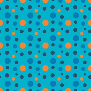 Orange And Blue Circles Pattern