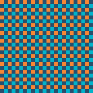 오렌지와 블루 바둑판 패턴