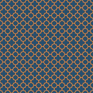 블루와 오렌지 된 quatrefoil 패턴