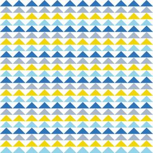 파란색과 노란색 삼각형 패턴
