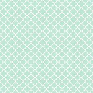 Blue And White Quatrefoil Pattern