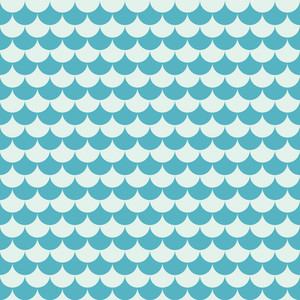Blue Sea Waves Pattern