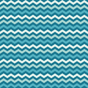 Blue Sea Chevron Pattern