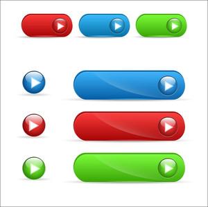 ボタンのベクトル