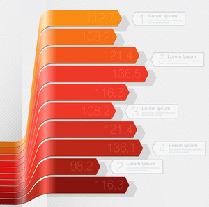 Chart Template For Infographics. Vector