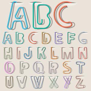 クリップ紙アルファベット