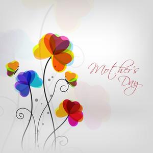 텍스트 어머니의 날과 함께 화려한 꽃