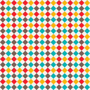 Colourful Diamond Pattern