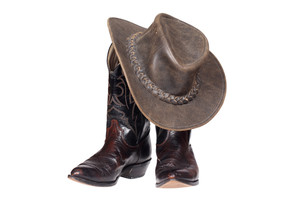 Cowboy Boots And Hat