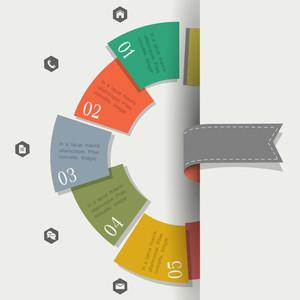 Kreative Design-Vorlage für Infografiken