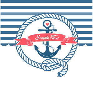 Cute Nautical Background With Anchor