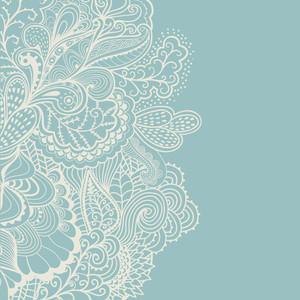 Borde de elemento decorativo. Tarjeta de Invitación abstracta. Plantilla de diseño de la onda para la tarjeta. Antecedentes Abstract Sea