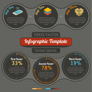 Detail Infographics Set. Technical And Information Indicators. Vector.