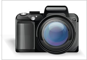 Vector fotocamera digitale