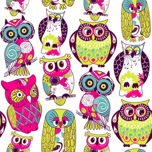 Seamless Owl Pattern