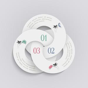 Elegante runde Design-Vorlage für Infografik