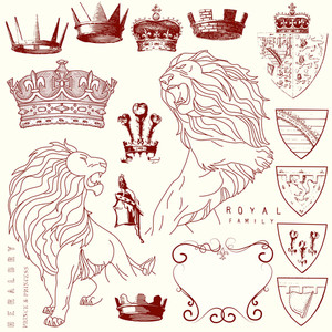 Et Of Lion And Crown Heraldry