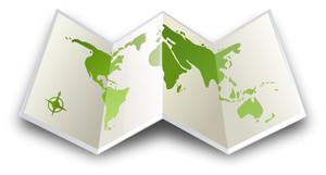 二つ折り地図Itravel