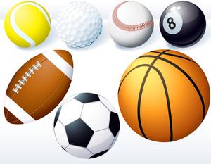 ゲームボール。ベクトルセット。