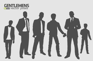 Gentlemen Vector Poses