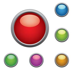 光沢のあるボタン