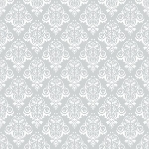 Grey And White Decorative Pattern