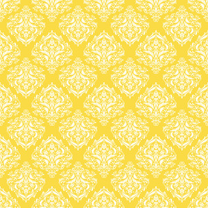 Yellow And White Decorative Pattern