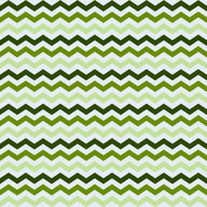 Green Monochrome Chevron Pattern