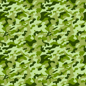 Green Monochrome Camouflage Pattern