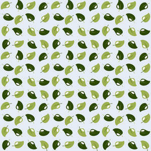 Green Monochrome Leaves Pattern