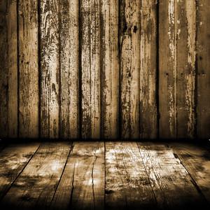 Grunge interior madera