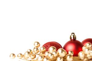 赤い飾りクリスマスの境界線