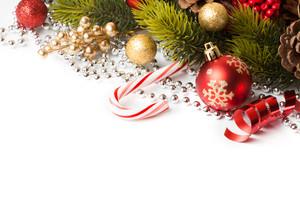frontière de Noël avec l'ornement
