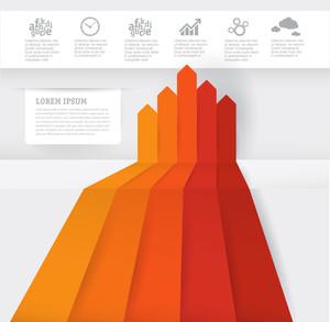 Plantilla gráfica infografía. Vector