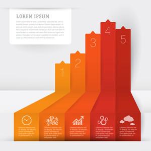 Infografik Diagrammvorlage. Vektor