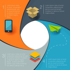 Infografica Forma vettoriale cerchio Template Design piatto.