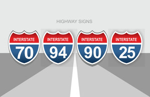 Interstate Highway Signs