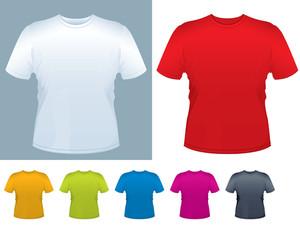 メンズTシャツベクトルテンプレート。