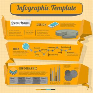 Minimal Monochrome Vector Infografik-Vorlage.
