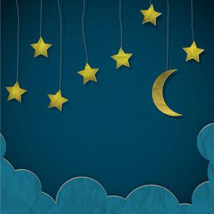 달과 종이에서 만든 별