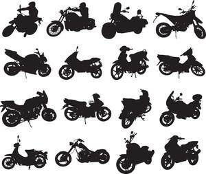 オートバイのシルエット