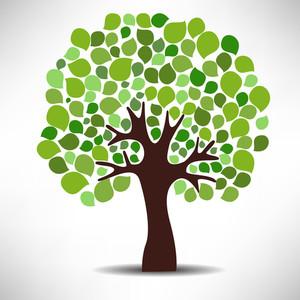Concepto de la naturaleza con el árbol verde.