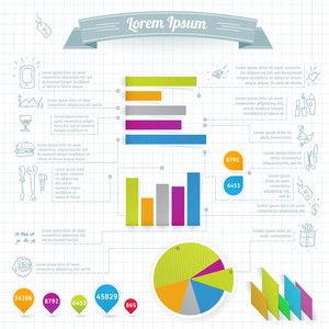 Paper Infographies Design Elements.