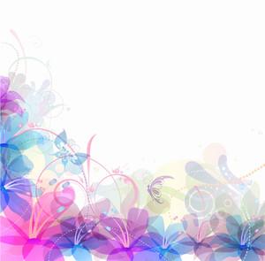 パステル花のベクトルイラスト