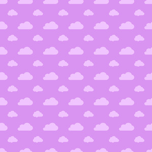 Purple Pastel Cloud Pattern