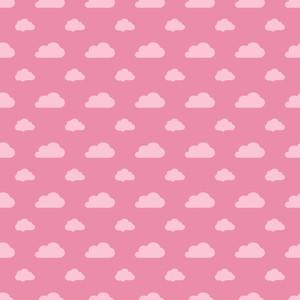 레드 파스텔 구름 패턴