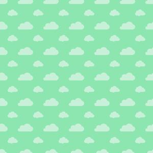 녹색 파스텔 구름 패턴