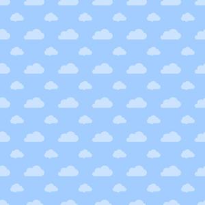 블루 파스텔 구름 패턴