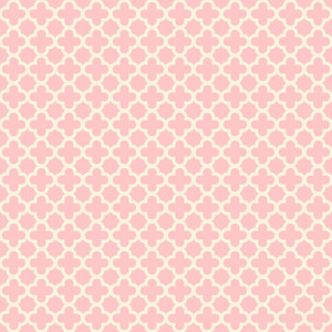 파스텔 핑크 된 quatrefoil 패턴