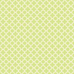 Pastel Green Quatrefoil Pattern